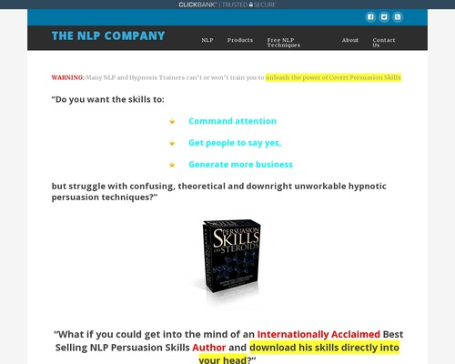Persuasion Skills on Steroids Deconstructed Main Info Page ...